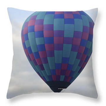 First To Take Off For The Atlantic Throw Pillow