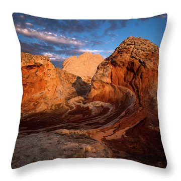 First Touch Throw Pillow by Bjorn Burton