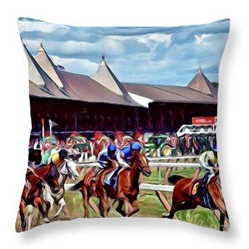 First Turn Saratoga Throw Pillow