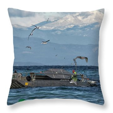Throw Pillow featuring the photograph Fish Are Flying by Randy Hall