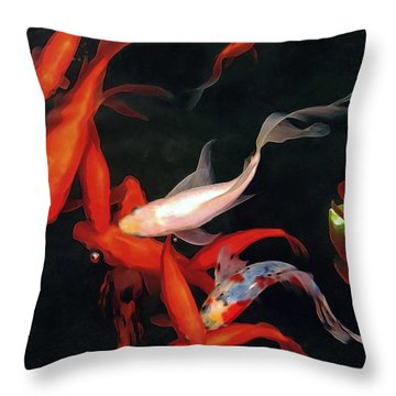 Fish Ballet Throw Pillow