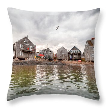 Fish Beach Throw Pillow