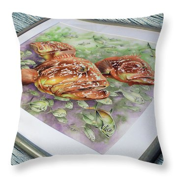 Fish Bowl 2 Throw Pillow