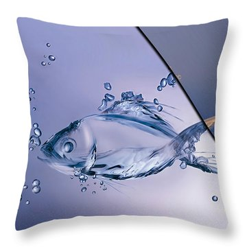Fish Collection Throw Pillow