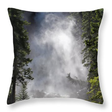 Fish Creek Falls Throw Pillow by Don Schwartz
