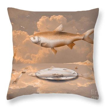 Fish Diner Throw Pillow
