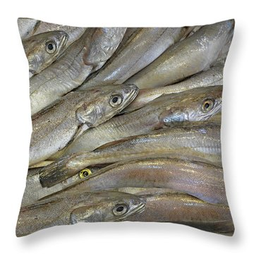 Fish Eyes Throw Pillow