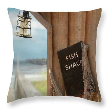 Throw Pillow featuring the photograph Fish Fileted by Lori Deiter