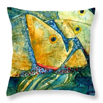Fish Friends Throw Pillow