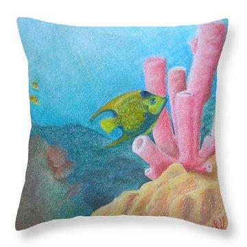 Fish Garden Throw Pillow