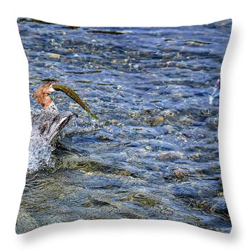 Throw Pillow featuring the photograph Fish Gulp by David Lawson