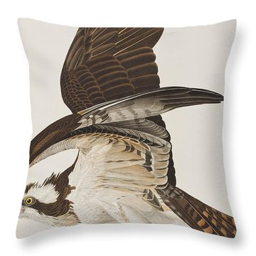 Fish Hawk Or Osprey Throw Pillow