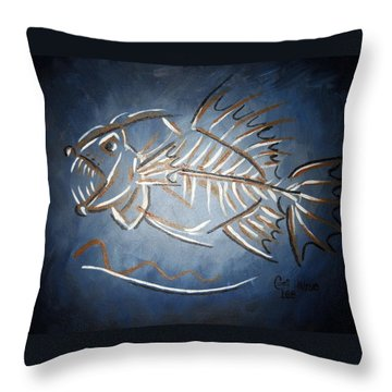 Fish Head Throw Pillow