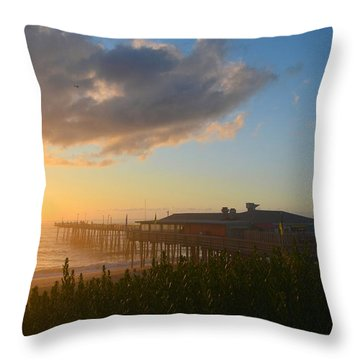 Throw Pillow featuring the photograph Fish Heads 7/6/18 by Barbara Ann Bell