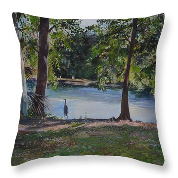 Fish Hunter's Of Palmetto Dunes Throw Pillow