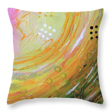 Fish In A Green Sea Throw Pillow
