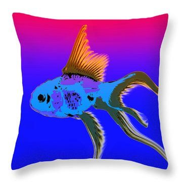 Fish Throw Pillow by James Bethanis