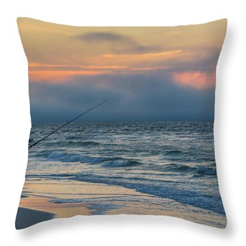 Throw Pillow featuring the photograph Fish On In Alabama  by John McGraw