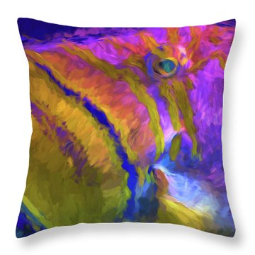 Throw Pillow featuring the photograph Fish Paint Dory Nemo by David Haskett