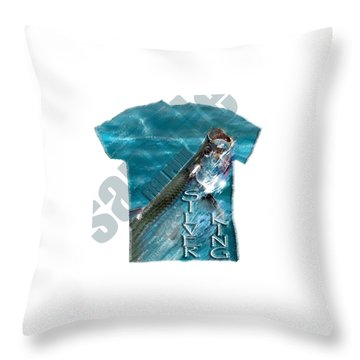 Fish Punk Tarpon Design Throw Pillow