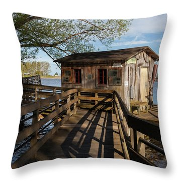 Throw Pillow featuring the photograph Fish Shack by Fran Riley