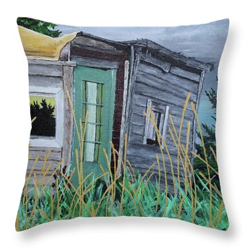 Fish Shack Throw Pillow