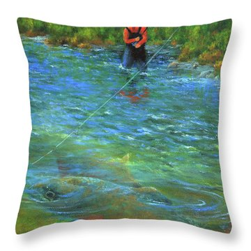 Fish Story Throw Pillow