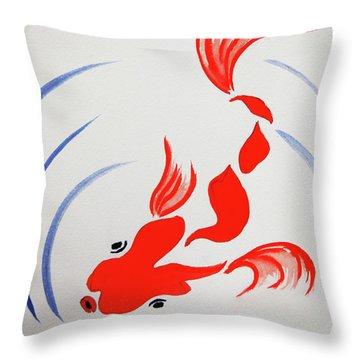 Fish Swish Throw Pillow