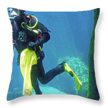 Fish Tank 16 Throw Pillow