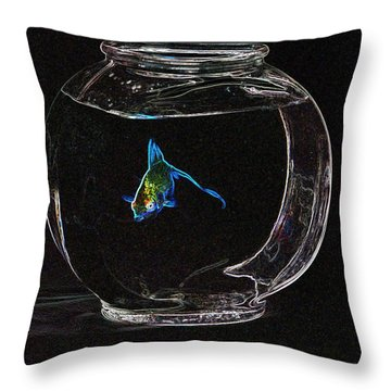 Fishbowl Throw Pillow by Tim Allen