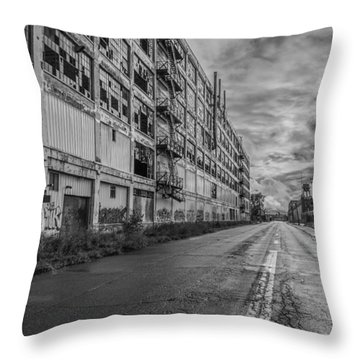 Fisher Body In Black And White  Throw Pillow