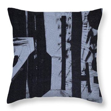 Fisher Covers Reverse White On Black Throw Pillow