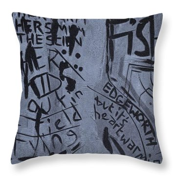 Fisher Covers Unmasked Throw Pillow