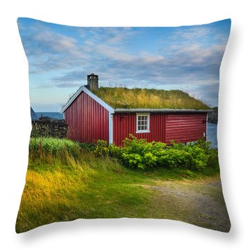 Fisherman House Throw Pillow by Maciej Markiewicz