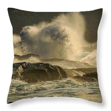 Fisherman Splash Throw Pillow