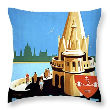 fisherman's castle, Budapest, Hungary Throw Pillow