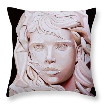 Fisherman's Daughter Throw Pillow