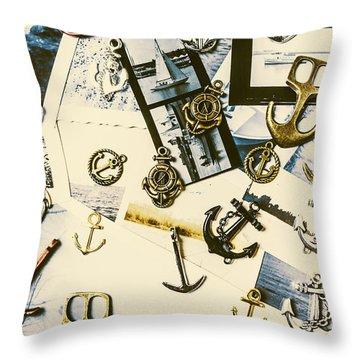 Fishermans Iconography  Throw Pillow