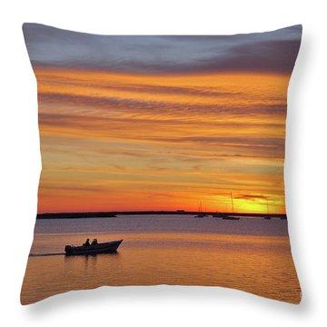 Fisherman's Return Throw Pillow