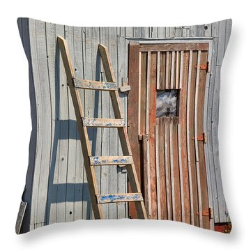 Fisherman's Shed In Prince Edward Island Throw Pillow by Louise Heusinkveld