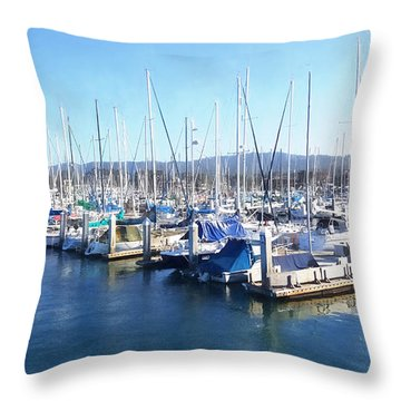 Throw Pillow featuring the photograph Fisherman's Wharf Monterey by Gina Savage
