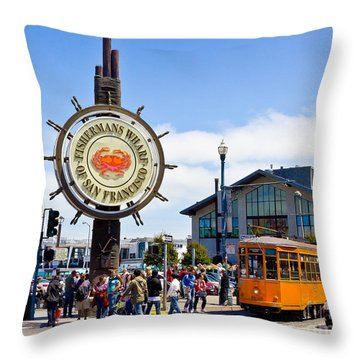 Fishermans Wharf - San Francisco Throw Pillow