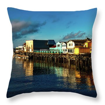 Fisherman's Wharf At Dusk Throw Pillow
