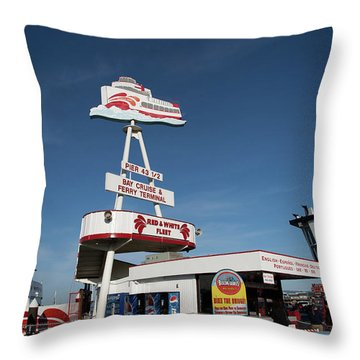 Fisherman's Wharf Bike Rental Throw Pillow