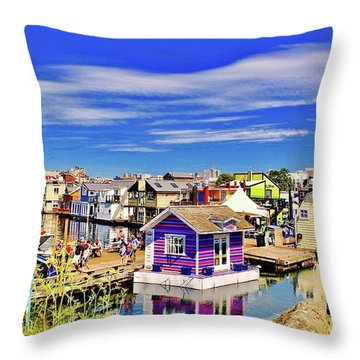 Fishermans Wharf Throw Pillow