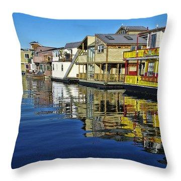 Fisherman's Wharf Throw Pillow