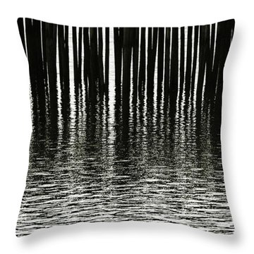Throw Pillow featuring the photograph Fishermans Wharf Provincetown by Charles Harden