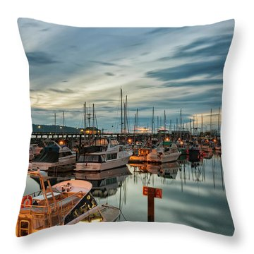 Throw Pillow featuring the photograph Fishermans Wharf by Randy Hall