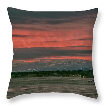 Throw Pillow featuring the photograph Fishermans Wharf Sunrise by Randy Hall