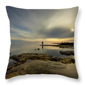 Fisherman's Zen  Throw Pillow